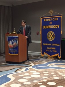 James Ottley recently spoke to the Dunwoody Rotary Club on Atlanta History.