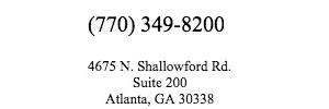 call us (770) 349-8200